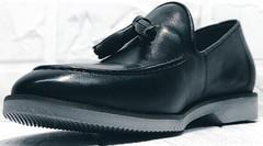 Классические лоферы туфли мужские кожаные Luciano Bellini 91178-E-212 Black.