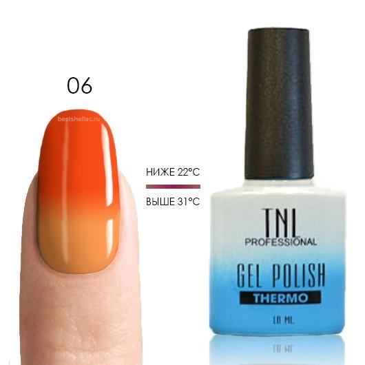 Термо TNL, Термо гель-лак № 06 - неоновый/оранжевый, 10 мл 06.jpg