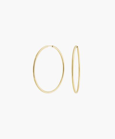 Серьги-кольца Hoops Endless gold 24 мм