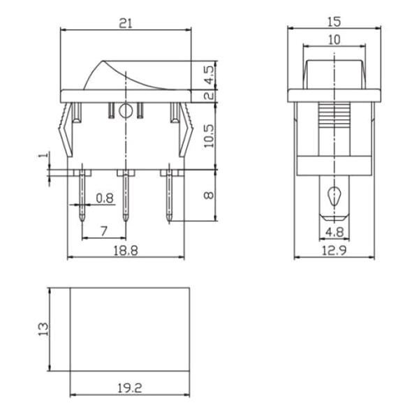 Выключатель трехконтактный MRS-103(A)
