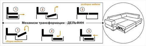 угловой диван Виктория 3-1