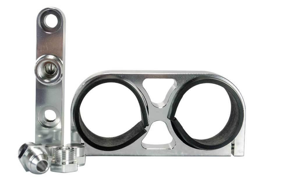 Хомут-держатель для насоса 2в1 топливный коллектор универсальный
