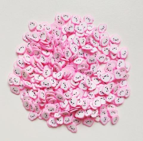 Посыпка фимо для слайма облако розовое