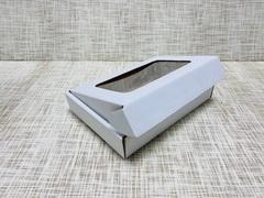 Коробка 18.5х12.5х3.5 см, гофрокартон, c окошком - 25 шт(упак)