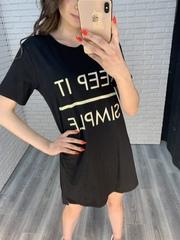 платье-туника черная купить