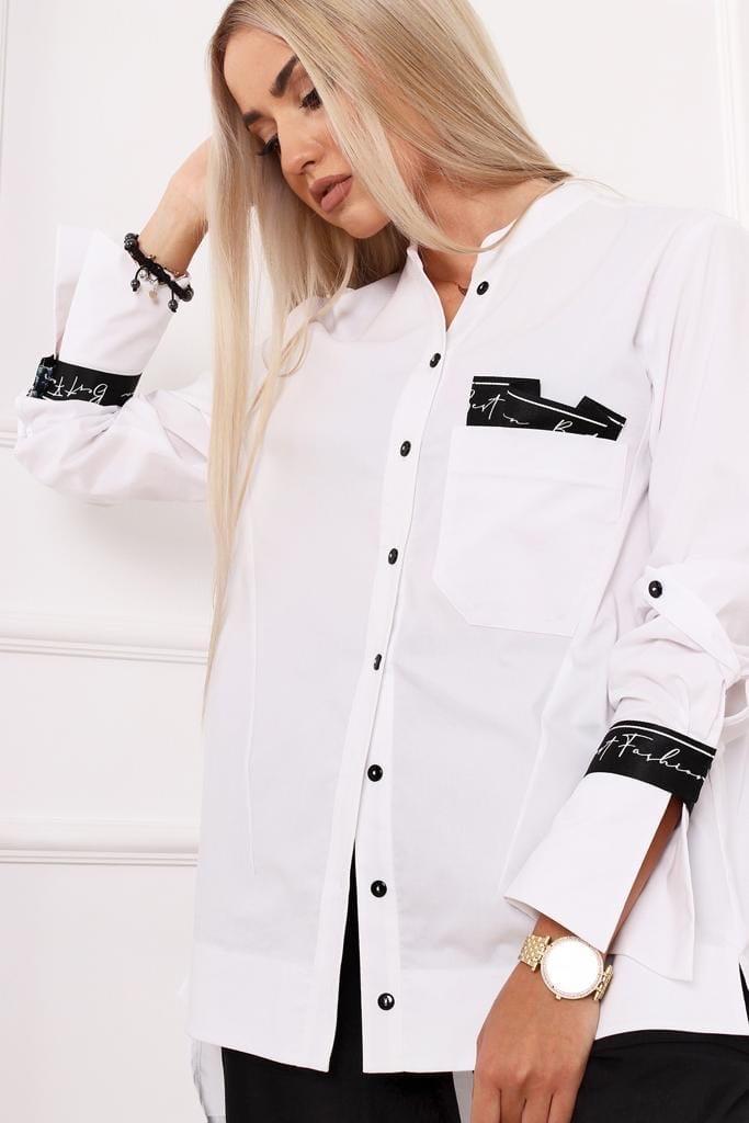 Блузка Alekssandra 3216 Когел рубашка однотон (О20)