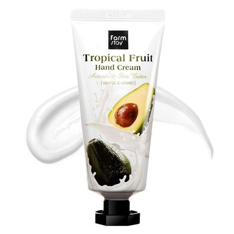 FarmStay Крем для рук с маслом ши и авокадо Tropical Fruit Hand Cream Avocado & Shea Butter 50 мл