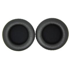 Амбушюры 60 мм черные кожаные