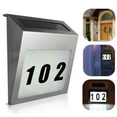 Указатель номера дома с подсветкой и солнечной батареей Мой дом