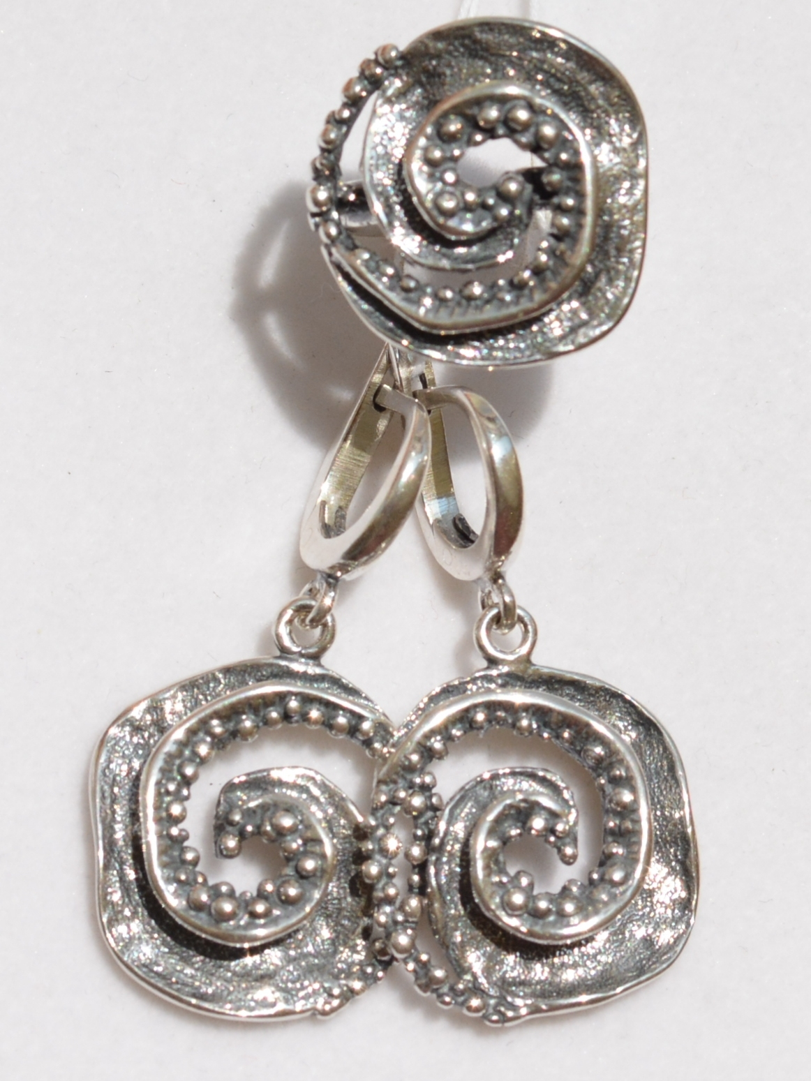 Посейдон (кольцо + серьги из серебра)