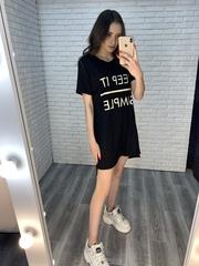 платье-туника черная недорого