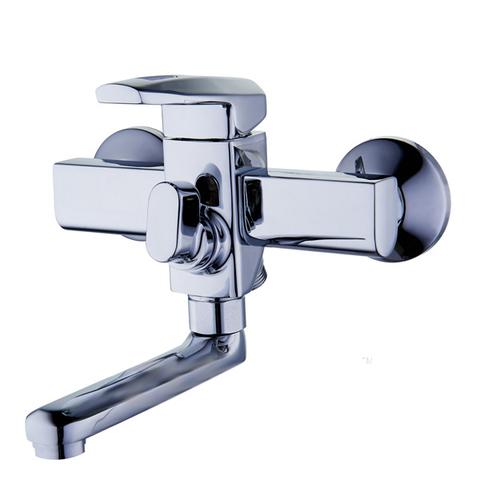 Смеситель для ванной однорычажный Zegor NOF-3 с коротким поворотным изливом