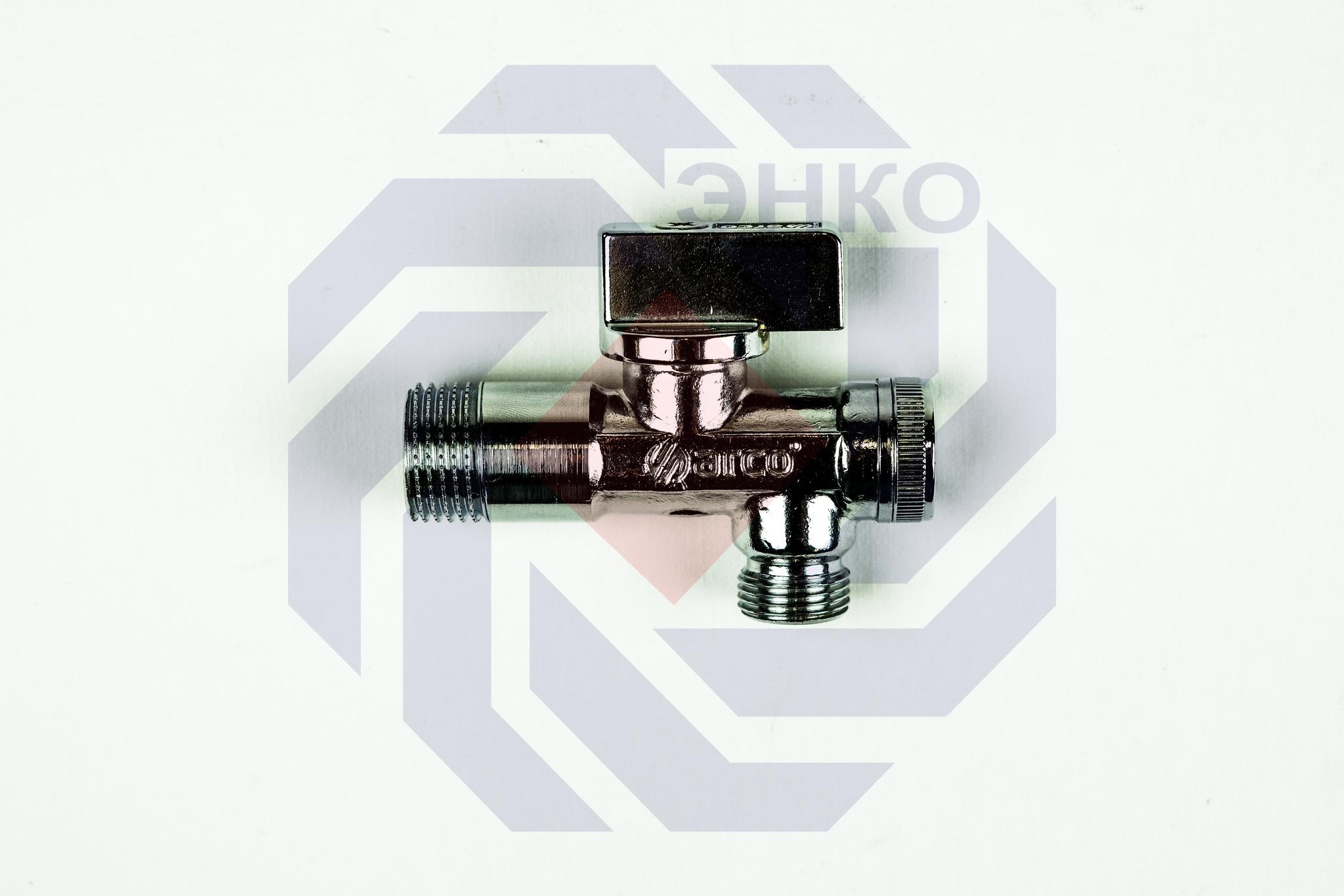 Кран для подключения сантехнических приборов угловой с фильтром ARCO A-80 ½