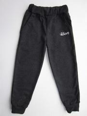 N02-2 брюки спортивные детские, серо-синий меланж