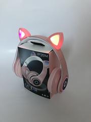Наушники беспроводные P39M с ушами кошки