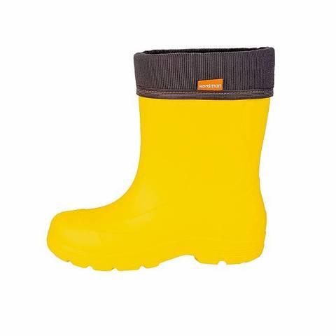 Сапоги из ЭВА Nordman TEEN (с флисовым вкладышем)  желтые (ТРК ГагаринПарк)