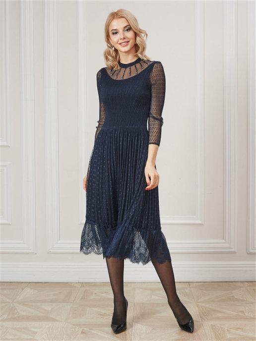Платье 12024С т-синий
