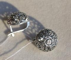 Антика-круг (серьги из серебра)