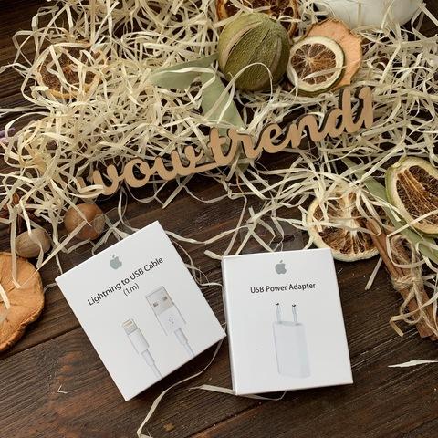 Сетевая зарядка Apple iPhone 1A original /упаковка/