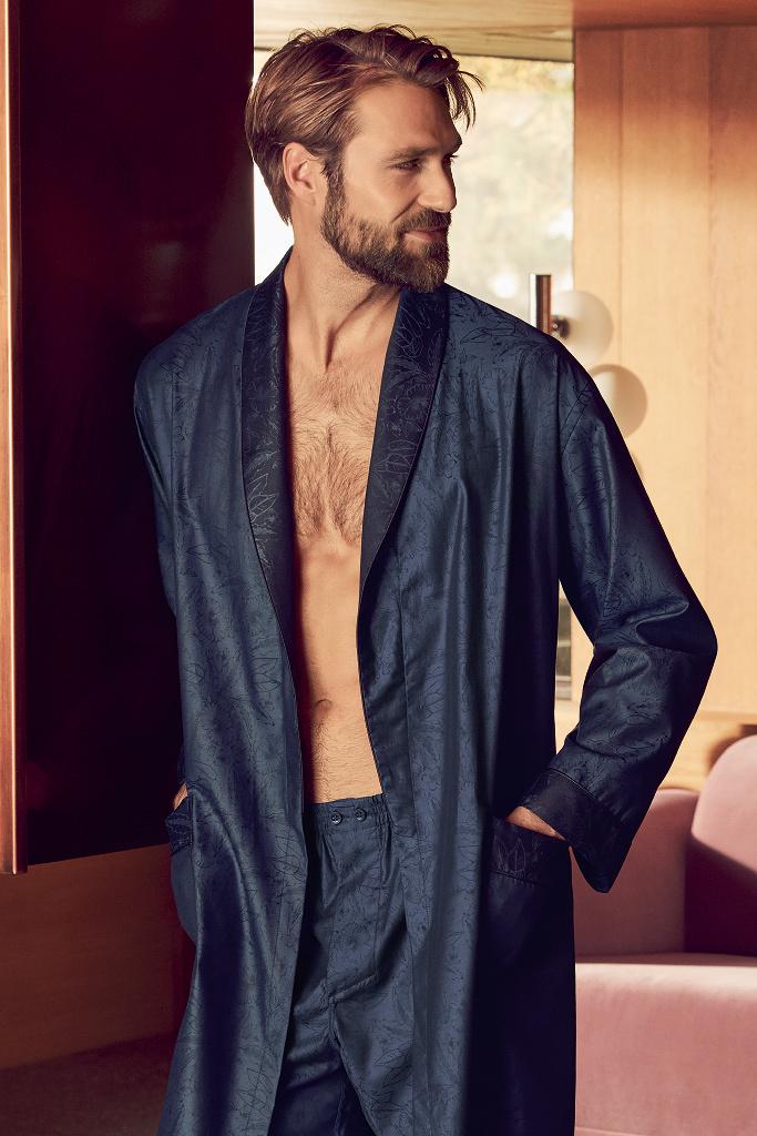 Элитный мужской халат из хлопка Zimmerli
