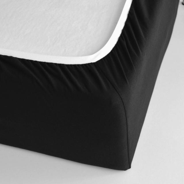 TUTTI FRUTTI чёрный - Двуспальная простыня на резинке