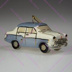 Ёлочная фарфоровая игрушка Москвич 407