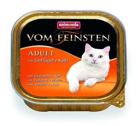Консервы Animonda Vom Feinsten Adult с домашней птицей и телятной для взрослых кошек