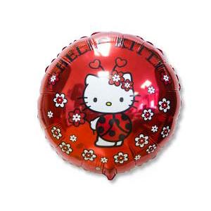Фольгированный шар Hello Kitty божья коровка 18
