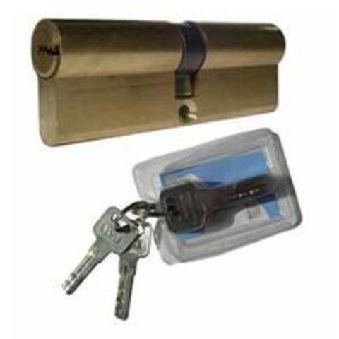 Цилиндрический механизм  MLВ-L-86 (48х10х28 или 53*32) латунь ключ/ключ с перекодировкой