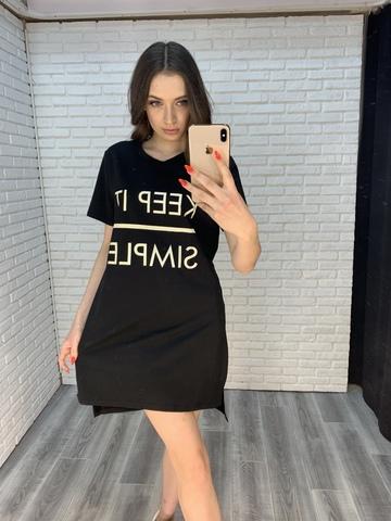 платье-туника черная оптом