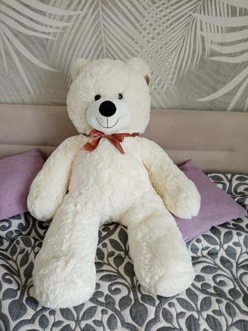 Плюшевый медведь Нестор Молочный 120 см