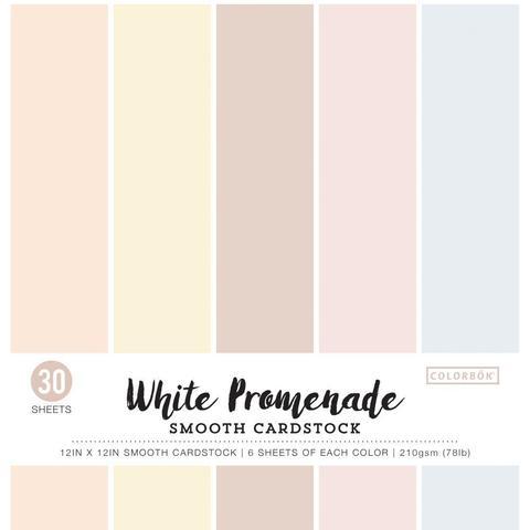 Набор цветного кардстока 30х30 см. Colorbok  Smooth Cardstock- White Promenade -30 л