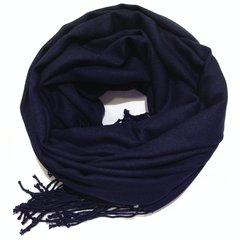 Кашемировый однотонный тёмно-синий палантин (11)