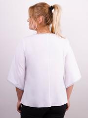 Марина. Весенняя блуза больших размеров. Белый.