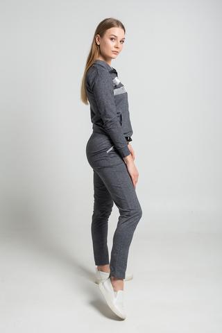 Спортивный костюм с серыми вставками оптом