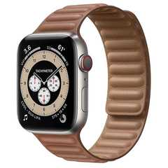 Умные часы Apple Watch Edition Series 6 GPS + Cellular 44mm Titanium Case with Leather Link (Saddle Brown)