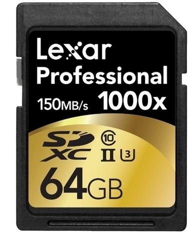 SDXC 64 Gb Lexar Professional 1000x