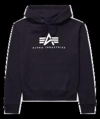 Толстовка Alpha Industries Basic Logo Hoodie (Черная)