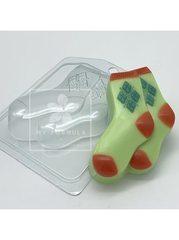 Носки мужские, форма для мыла пластиковая