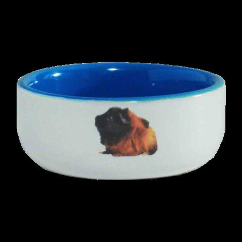 Beeztees Миска для грызунов керамическая с изображением морской свинки