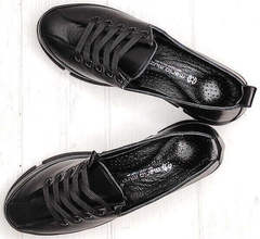 Ммодные спортивные туфли кроссовки натуральная кожа Mario Muzi 1350-20 Black.