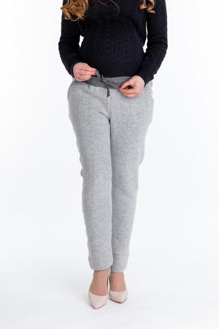 Утепленные спортивные брюки для беременных 10078 серый