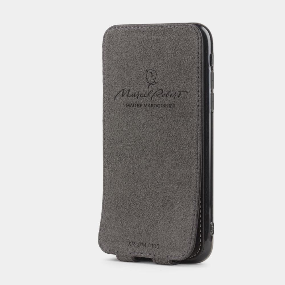 Чехол для iPhone XR из натуральной кожи теленка, темно-коричневого цвета