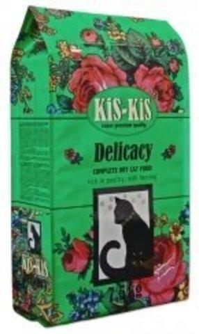 KiS-KiS Delicacy Сухой корм для кошек с домашней птицей и сельдью 7,5 кг.