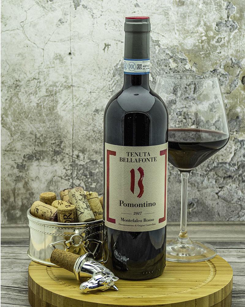 Вино Bellafonte Монтефалько Россо Помонтино Красное сухое 13% 0,75л.