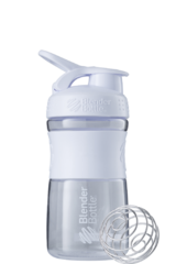 Шейкер-фляга Blender Bottle SportMixer 591мл Clear White