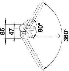 Смеситель Blanco Jeta хром - схема