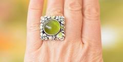 Беатрис ( кольцо + серьги из серебра)