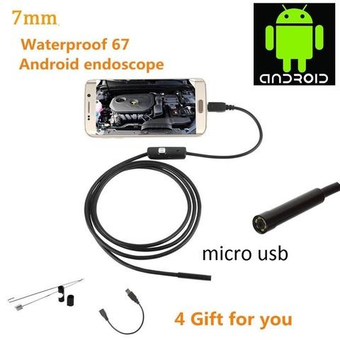 USB-эндоскоп 5 метра с камерой 5.5 мм водонепроницаемый с LED подсветкой и micro USB для компьютера и телефона