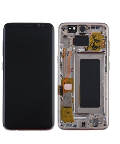 LCD SAMSUNG Galaxy S8 G950F + Touch + Frame Gold Orig
